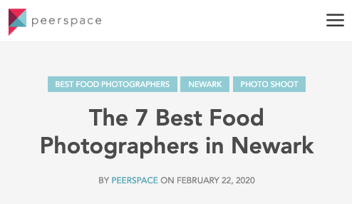 The 7 Best Food Photographers in Newark