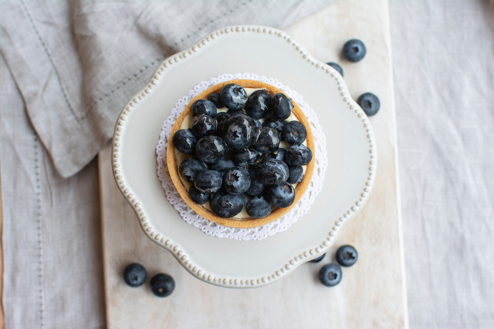 Le French Dad Blueberry Tart