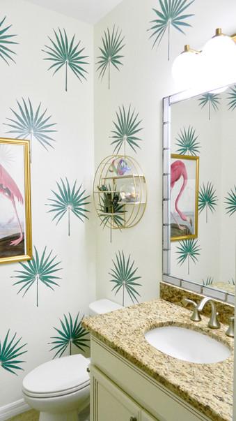 Palm Leaf Powder Room