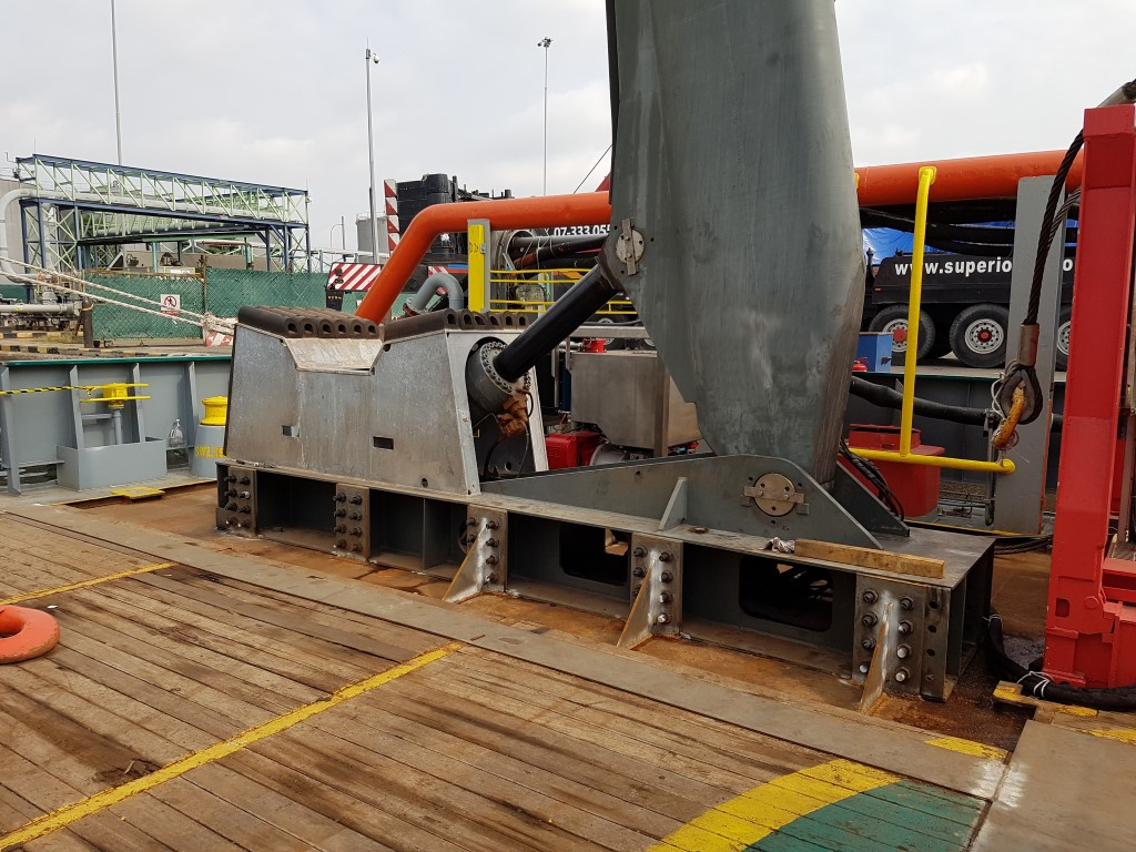 A-Frame installed on Offshore vessel