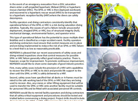NOPSEMA provide Hyperbaric Evacuation Guidance