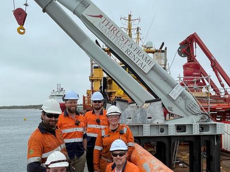 Bass Strait - THOR A-frame mobilisation