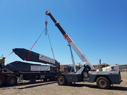 A-Frame being unloaded from truck