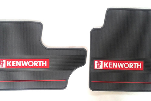 Kenworth OEM Gray Rubber Floor Mats W/Logo for T600/60 T800 W900 2006-2016