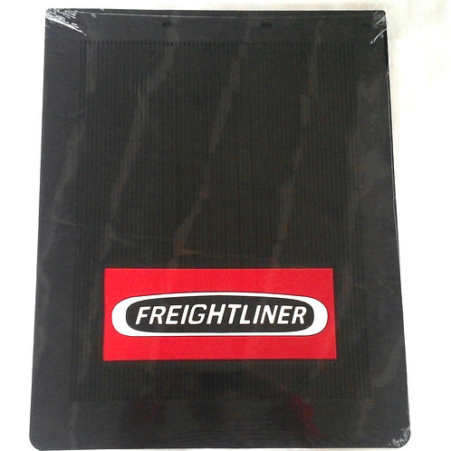"Freightliner Mud Flaps OEM Black Rubber With White/Red Logo 24"" x 30"" New Pair"