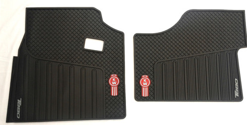 Kenworth T880 Oem Black Rubber Floor Mats W Logo For 2014