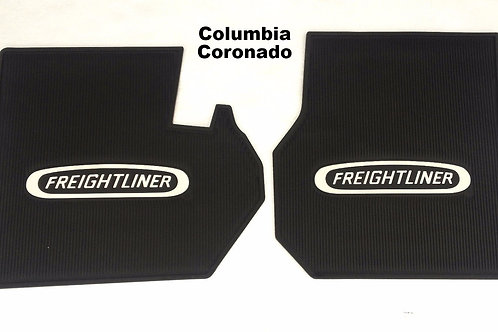 Freightliner OEM Floor Mats with Logo - Black Rubber 2 PC Cab -Pick Truck Model