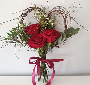 Red Rose Heart posy