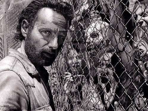 A4 Giclee print of Rick Grimes