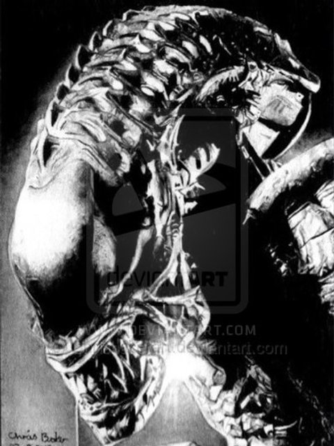 A5 Giclee print of Alien