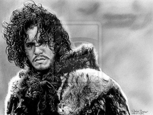 A4 Giclee print of Jon Snow