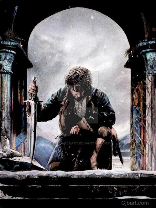 A4 Giclee print of Bilbo Baggins