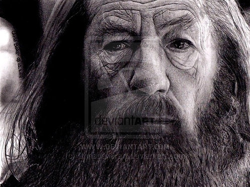 A5 Giclee print of Gandalf