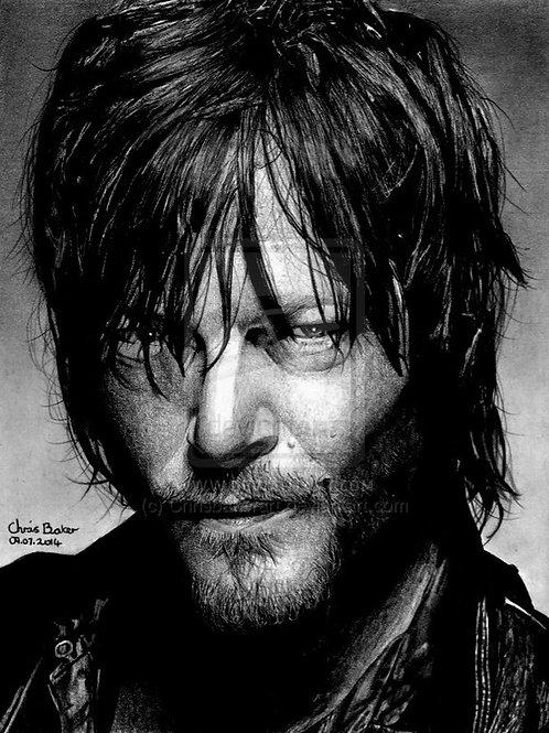 A4 Giclee print of Daryl Dixon