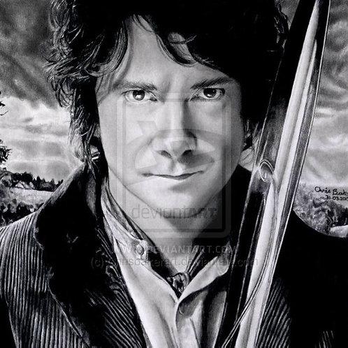 A5 Giclee print of Bilbo Baggins