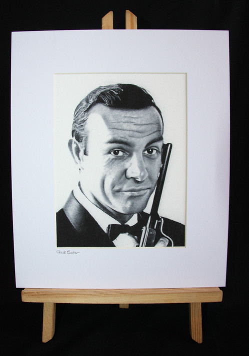 A4 Giclee print of James Bond (Sean Connery)