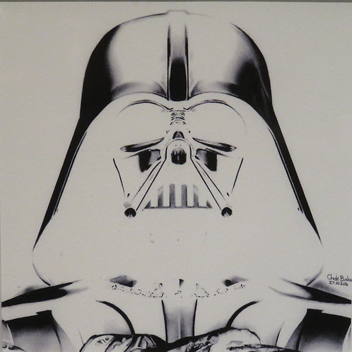 A5 Giclee print of Darth Vader in the negative