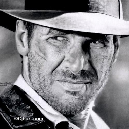 A5 Giclee print of Indiana Jones