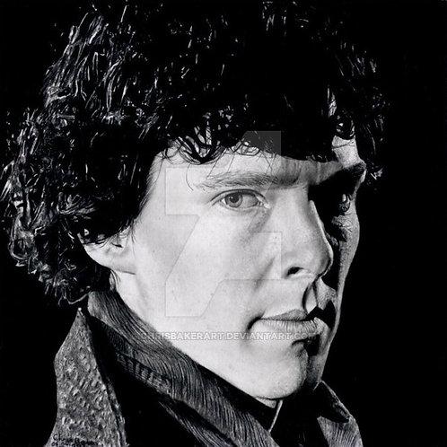 A5 Giclee print of Sherlock Holmes