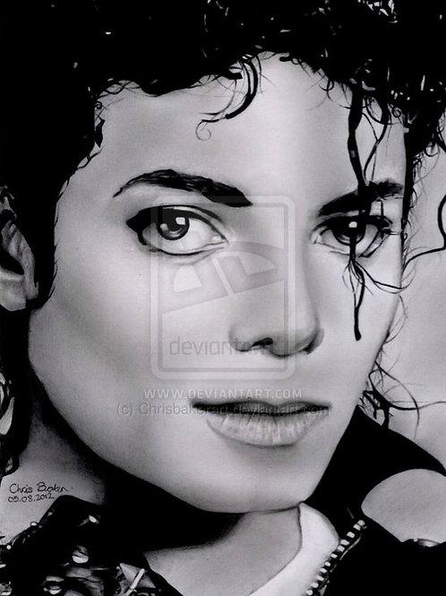 A5 Giclee print of Michael Jackson (BAD era)