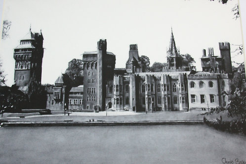 A4 Giclee print of Cardiff Castle
