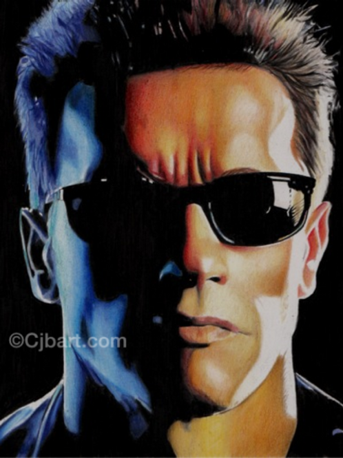A4 Giclee print of The Terminator