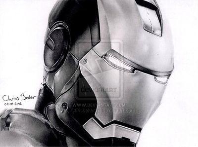 Ironman - Drawn by Chris Baker