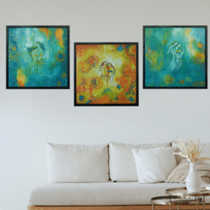 Romance In The Air (3 Paintings)