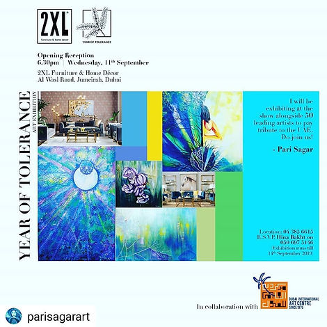 Pari Sagar 2XL Year of Telerance Art Exh