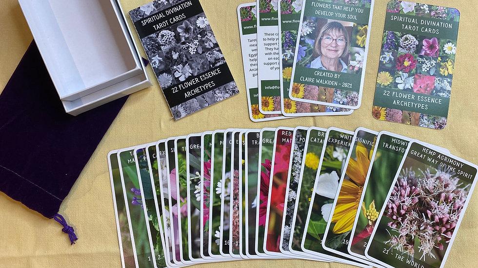 22 Major Arcana Flower Tarot Cards