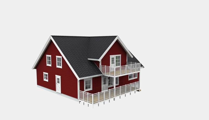 Nybyggnad, Tvåplansvilla
