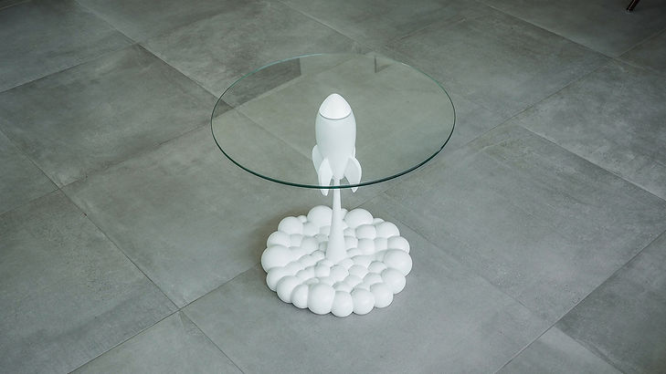 Single White Rocket Table