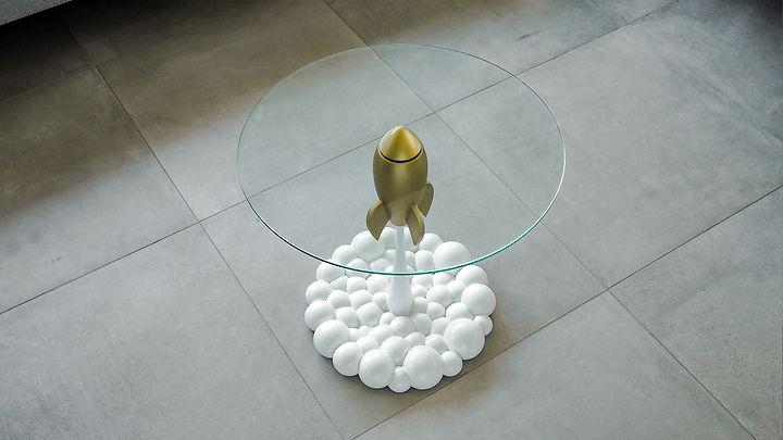 Single Golden Rocket Table
