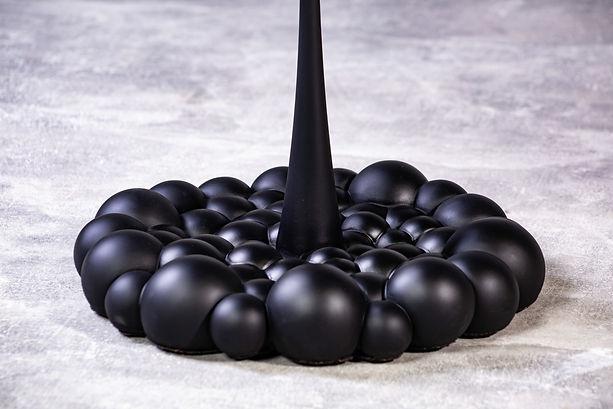 Single Black Rocket Table