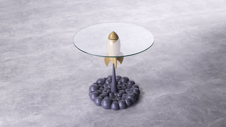 Single Rocket Table Gray