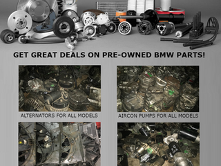 GREAT DEALS ON PRE-OWNED BMW SPARES!