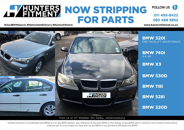 Now Stripping Car Parts Hunters Fitment Service Centre Parts