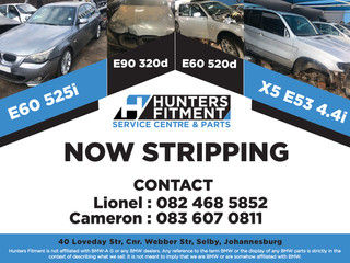 See whats stripping for spares at Hunters Fitment Service Centre & Parts!