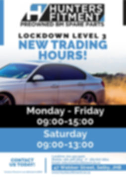 Hunters Fitment New Trading Hours June 2