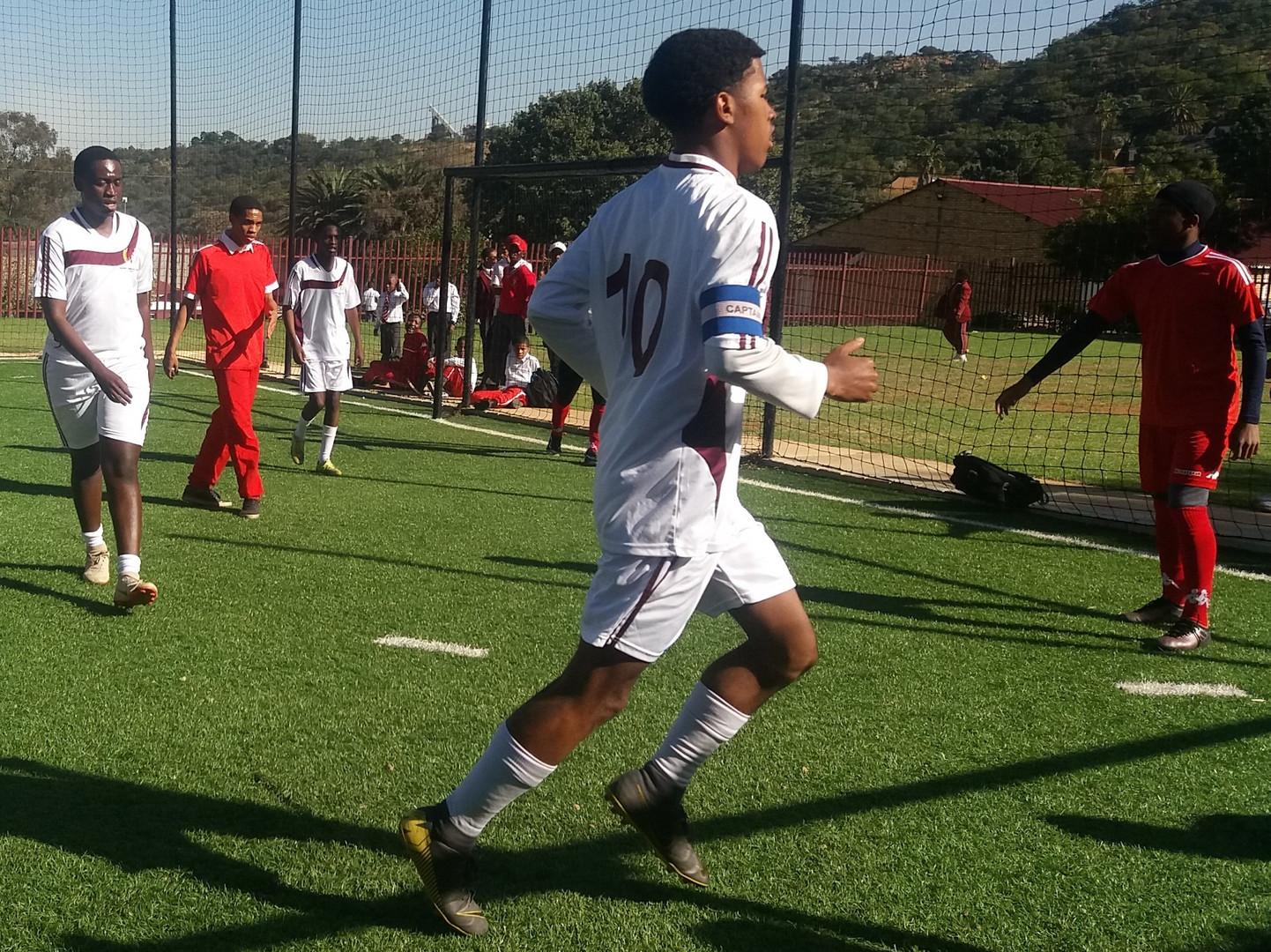 Soccer Senior team in action