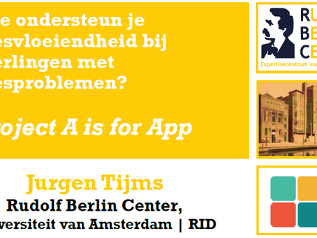 A is for Apps findings presented at the National Dyslexia Conference (NL)