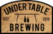 Under Table Brewing Logo (wood version).