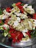 Mozzarella salad with hemp seeds