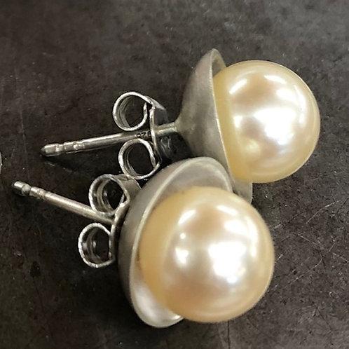 Golden Akoya Pearls & Silver Sterling