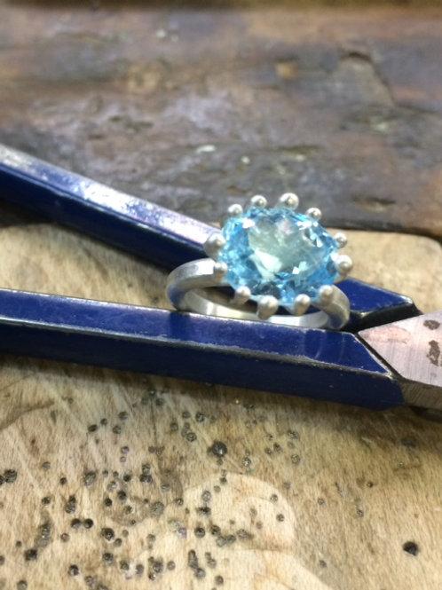"Topaz Ring ""The Swiss Blue"""