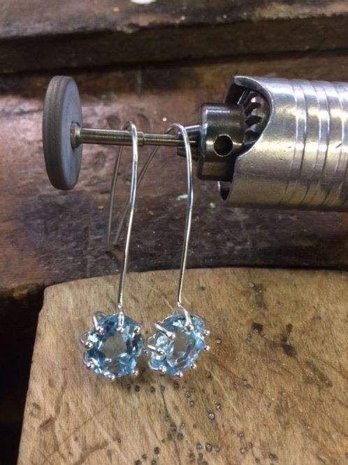 """Topaz Earrings """"The Swiss Blue"""""""