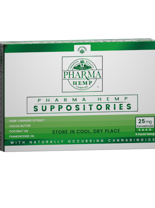 Pharma CBD Supporitories 125mg