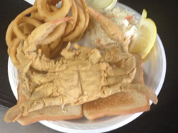Dino's Seafood:Soft shell Crab