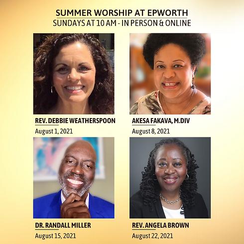 Worship at Epworth - 8/15/21