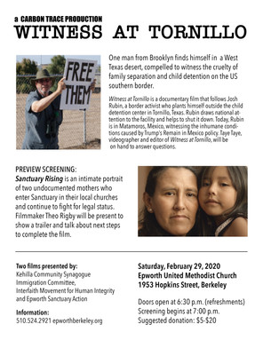 "Film Screening: ""Witness at Tornillo"" & ""Sanctuary Rising"""